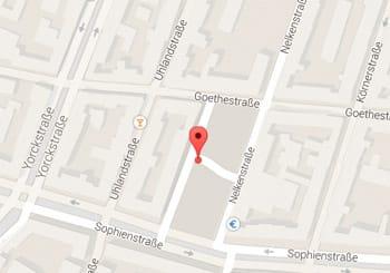 Karte Gutenbergplatz Karlsruhe