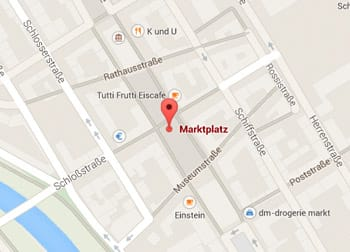 Karte Marktplatz Karlsruhe