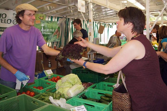 Bio-Gärtnerei Schmälzle auf dem Wochenmarkt